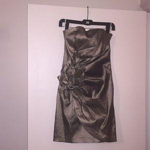 Jessica McClintock Platinum Strapless Dress